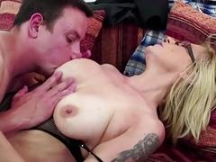Blonde mature gets banged in..