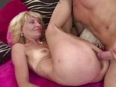 Slim mature gets drilled by..