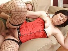 Old Lady In Fishnet..