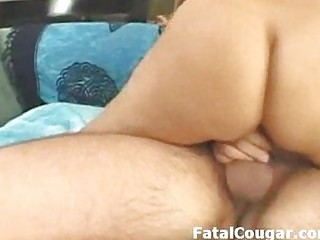 huge boobs milf with round ass and trimmed pussy bounces on