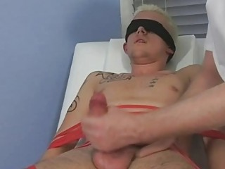 Bound And Tied Up By The Glaze Blond Twink Gets His Dick Sucked By Mature Gay Fern