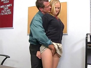 The Teenage Whore And Her Mature Teacher Shake Strongly After The Lesson