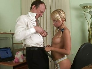 Little Blonde Baby With Small Tits Shouts Horny Mature Guy