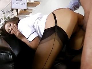 Brunette nurse gets fucked..