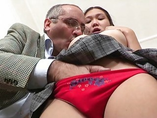 Slender Schoolgirl With Small Boobs Sucks And Goes Mature Teacher