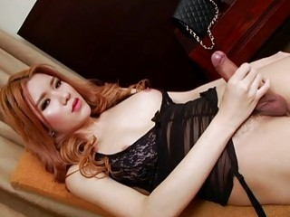 asian ts honey lisa cant stop stroking her cock