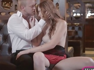 desirable red haired babe linda sweet gets her pussy banged