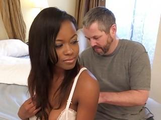 Ebony Wife Has Cuckold Lick..