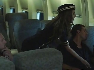 horny pilot gets lucky with big booty blonde passenger