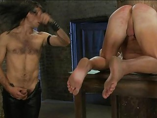 Skinny Gay Dude Shot Down And Tied In The Dungeon