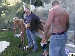 Hot babe and cougar had fun..