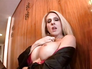 stunning blonde cougar angela attison rubs out her swollen clit as she is fucked