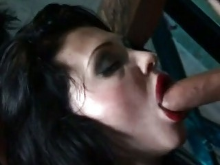 sizzling aletta ocean gets her awesome throat fucked by a hard black schlong