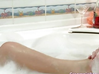 Dark-Haired Teenager Who Relaxes In The Jacuzzi With Her Boyfriend