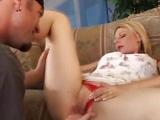 Blonde Swinger Tries Anal..