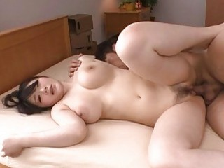 Busty Japanese Babe Rie Tachikawa Gets Licked And Fucked Hard