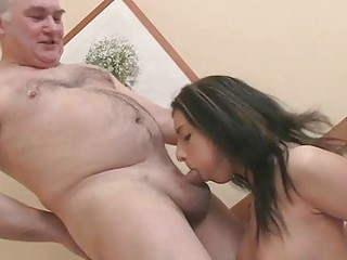 Young Teenager Spreads Her Legs In Front Of An Old Woman