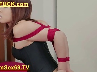 Bondage With Red Ropes Free Asian C5 Porn Video