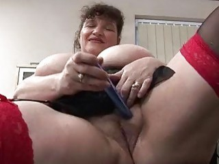 Horny Fluffy Mature Lady Masturbation