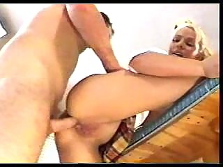 well paid sexy blond whore doing what she does best
