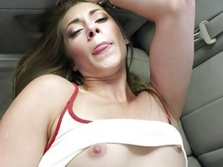 Kirsten Lee fucks a drivers dick