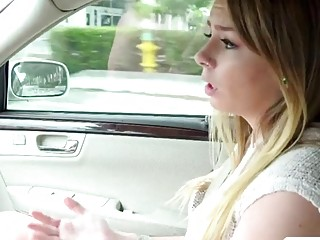 Horny stranded teen Alex Blake exchange her pussy for a ride