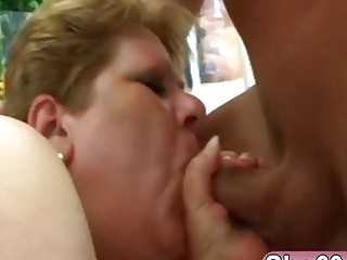 Blonde Blond Grandma Loves To Enjoy Her Loose Naughty Pussy