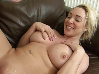 Smooth Blonde With Big Tits Gives A Wonderful Blowjob And Falls Off