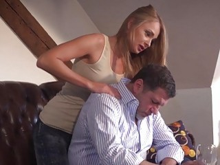 Blonde Doll And Horny Mature Guy Have Steamy Fuck Sessions