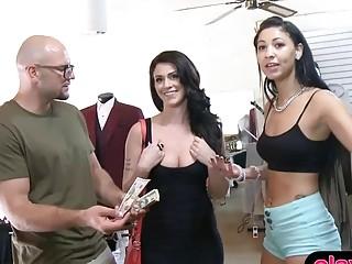 Amateur brunette in lascivious boots fucks for a hundread bucks | Porn-Update.com