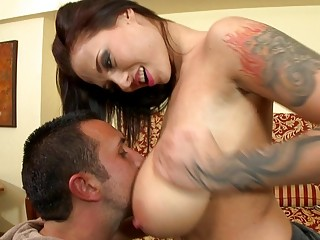 Brunette Baby With Massive Jugs Is Going To Have A Juicy Fuck Stick