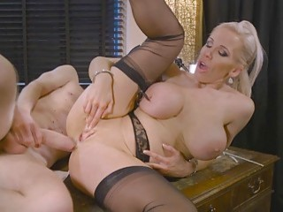Busty Blonde Bitch And Horny Bug Have Wild Sexy Fuck