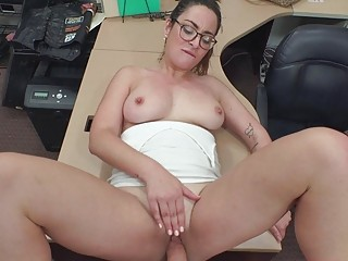 Sexy Woman With Glasses Pussy Slammed