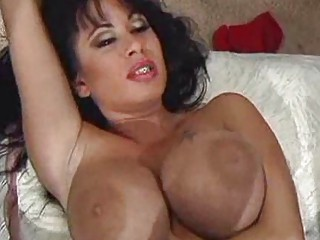 gorgeous brunette milf with huge tits gets banged
