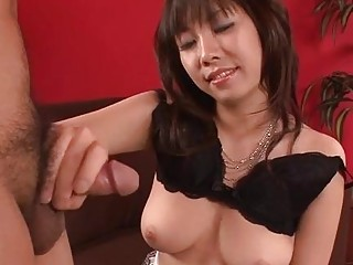 Busty Oriental Gives Girlfriend A Fuck And Juicy Blowjob
