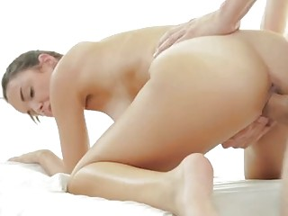 Stud Nice Sexy Girl With Massage With A Fur Pie