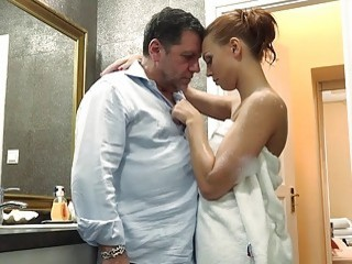 Grandpa Makes Love Teenager Schoolgirl Fucking Face