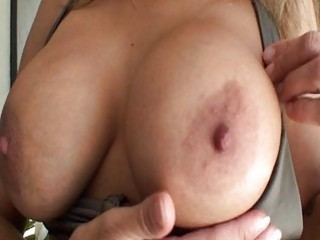 sexy ass milf in bikini with massive hooters gets pussy licking