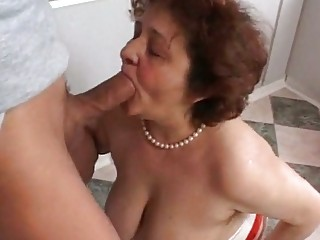 Fat Granny Loves To Suck Dick And Lick That Hairy Bomb