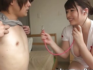 Pretty looking japanese nurse and one horny guy have kinky sex | Porn-Update.com