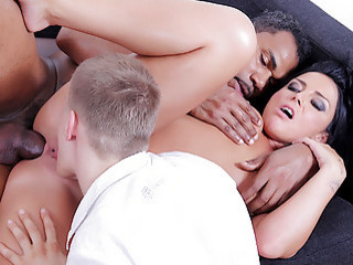 Brunette Wife Tiffany Takes A Big Black Dick In Her Ass